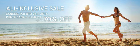 All Inclusive Sale - Save up to 70% off