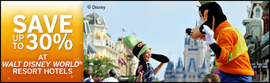 Save up to 30% on WDW resort Hotels